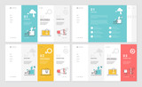 Set of website template designs. Modern vector illustration concepts of web page design for website and mobile website development. Easy to edit and customize. - 199123275