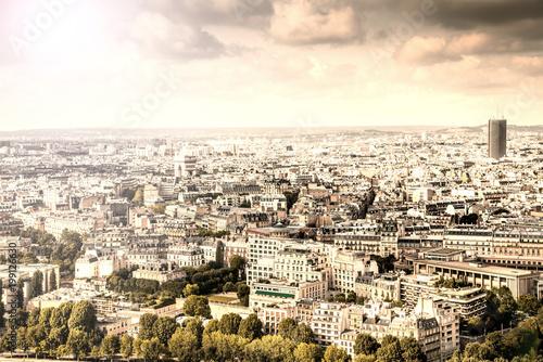 Wall mural vista aerea di Parigi