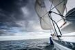 Sailboat and seascape
