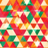 Yellow triangle seamless pattern