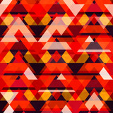Warm color mosaic seamless pattern