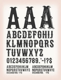 Vintage Classic Western And Tattoo ABC Font - 199150490