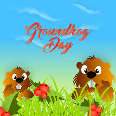 nice and beautiful abstract, banner or poster for Ground Hog Day with nice and creative design illustration in a background, 2nd Feb.