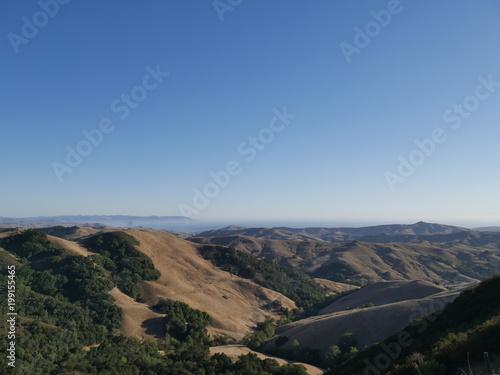 Foto op Plexiglas Zwart Mountains in California