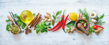 Fresh aromatic herbs and spices for cooking - 199157833