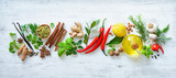 Fresh aromatic herbs and spices for cooking - 199157836