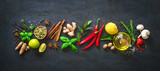 Fresh aromatic herbs and spices for cooking - 199158021
