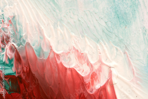 Foto op Plexiglas Abstract wave Hand drawn gouache painting. Abstract art background. Color texture