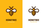 Linear bee icon.