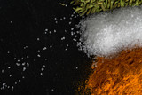Spices fennel on stone surface are large and place for advertising - 199182440