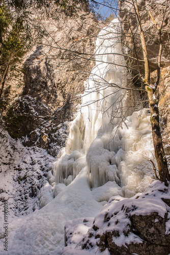 frozen waterfall ice  - 199191099