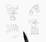 Coffee pen line symbols - 199192204