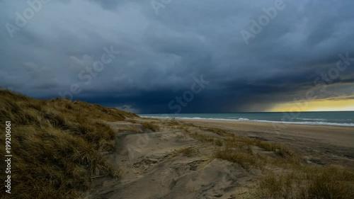 Timelapse de la plage de Hirtshals, Danemark
