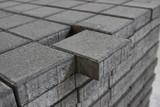 Concrete paving slabs blocks texture background, close-up. - 199215231