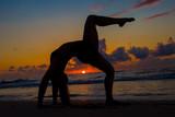 Dark Sunrise Yoga Pose