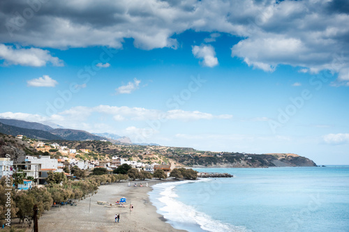 Fotobehang Pool Seascape and town, Crete, Greece