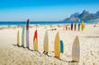 Quadro Surfboards at Ipanema beach, Rio de Janeiro, Brazil