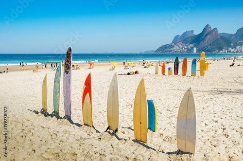 Aluminium Rio de Janeiro Surfboards at Ipanema beach, Rio de Janeiro, Brazil