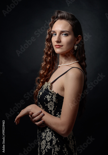 Foto op Plexiglas Kapsalon Portrait of a beautiful woman with perfect long hair .