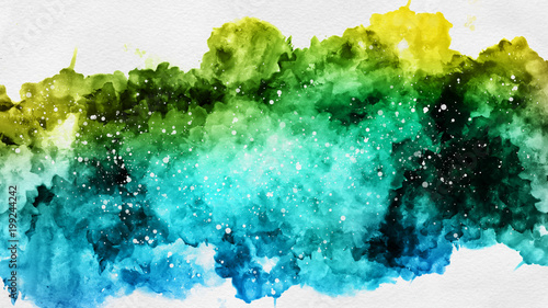 Abstract watercolor sketch paint template texture