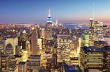New York city at night, Manhattan, USA - 199248053