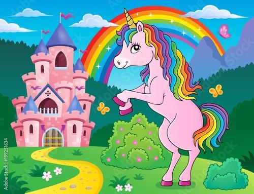 Poster Voor kinderen Standing unicorn theme image 3