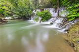 Noppiboon waterfall in Tropical Rain Forest at  Sangkhlaburi , Kanchanaburi Province, Thailand