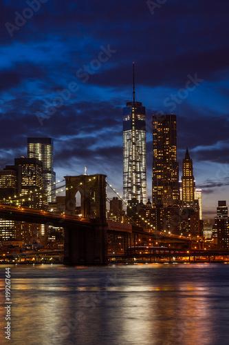 Foto op Plexiglas New York Brooklyn Bridge and Manhattan Skyline, New York City