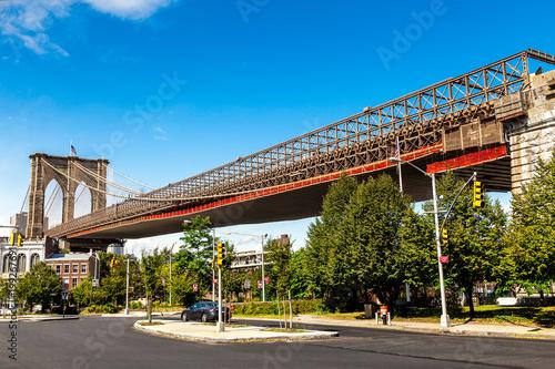 Foto op Plexiglas Brooklyn Bridge Brooklyn Bridge in New York City, USA