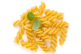 Pasta spiral isolated on the white background. - 199277062