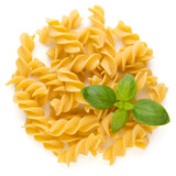Pasta spiral isolated on the white background. - 199277412
