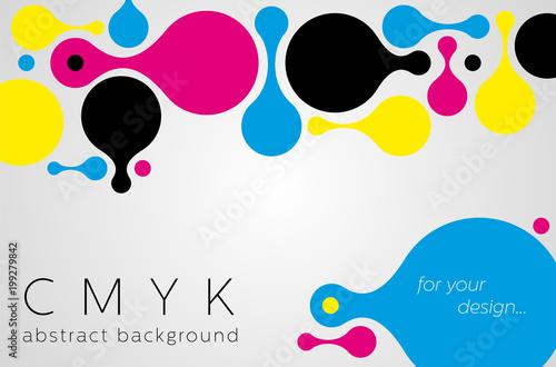 Abstrakcyjne tło metaball z kolorów CMYK