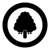 Fruit tree icon black color in circle