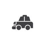 Taxi cab vector icon. filled flat sign for mobile concept and web design. Transportation simple solid icon. Symbol, logo illustration. Pixel perfect vector graphics - 199303015