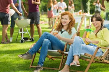 Girls with drinks enjoying summer
