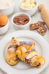 chocolate croissant homemade © Lsantilli