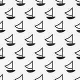 seamless boat pattern - 199315072