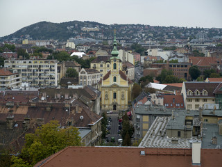 View of a city, Buda's Castle District, Budapest, Hungary