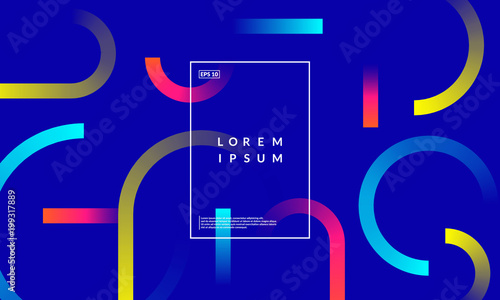 Colorful geometric background. Dynamic shapes composition. Eps10 vector. - 199317889