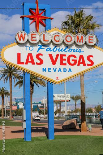 Aluminium Las Vegas Welcome To Fabulous Las Vegas Nevada road sign