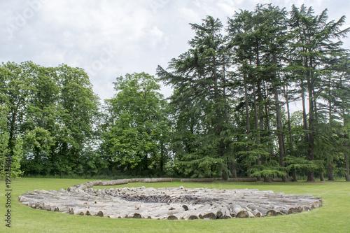 Fotobehang Pistache The Chateau de Chaumont garden in the Loire