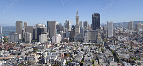 Plexiglas San Francisco San Francisco skyline and residential area.