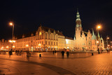 The historic marketplace in Wroclaw, Silesia, Poland