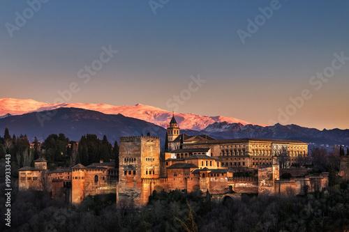 Alhambra, Granada, Sierra Nevada, Spain