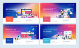 Set of website template designs. Modern vector illustration concepts of web page design for website and mobile website development. Easy to edit and customize. - 199340458