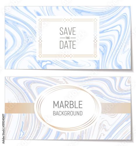 Zaproszenia ślubne z imitacji marmuru papieru tekstury, atramentu plam suminagashi tło