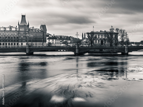 Foto op Canvas Stockholm Ice gliding