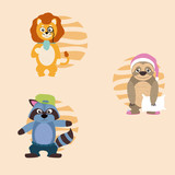 Cute animals cartoons