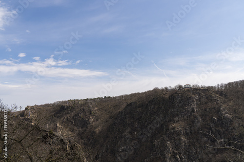 Foto op Aluminium Grijze traf. View of the Bodetal from the Rosstrappe in Thale / Harz mountains ( Germany )