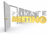 Private Meeting Personal Confidential Office Door Open 3d Illustration - 199371848